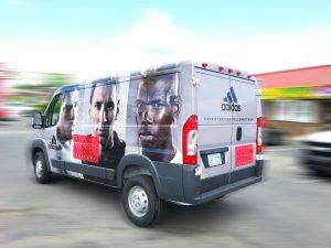 Adidas vehicle wrap Boston MA